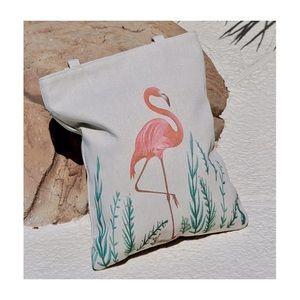 Handbags - Flamingo Canvas Tote Bag